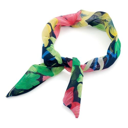 Black Multi Coloured Flower Knot Wired Headband